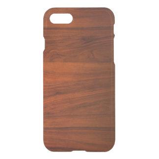 Caso claro del iPhone 7 de madera de la cereza Funda Para iPhone 7