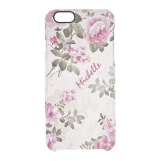 Caso claro floral del vintage del nombre primario funda clearly™ deflector para iPhone 6 de uncommon