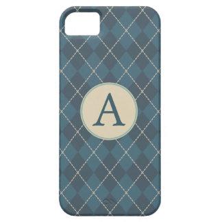 Caso clásico del iPhone 5 del monograma de Argyle iPhone 5 Carcasas