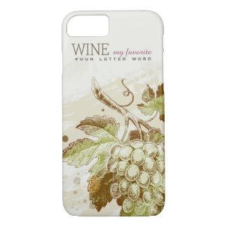 Caso clásico del iPhone 7 del vino de las uvas del Funda iPhone 7