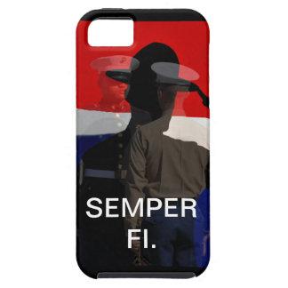 Caso compuesto de Semper Fi IPhone iPhone 5 Case-Mate Carcasa