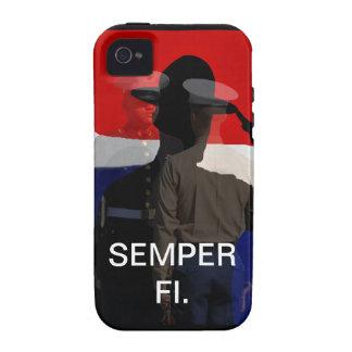 Caso compuesto de Semper Fi IPhone iPhone 4 Carcasas