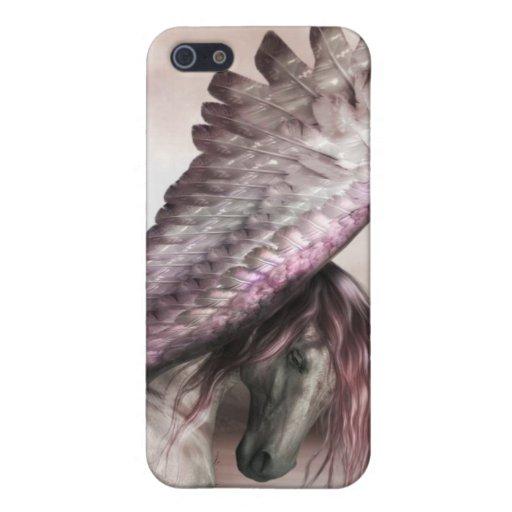 Caso con alas del iPhone 4 de Pegaso iPhone 5 Carcasa