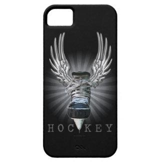 Caso con alas del iPhone 5 del hockey Funda Para iPhone 5 Barely There