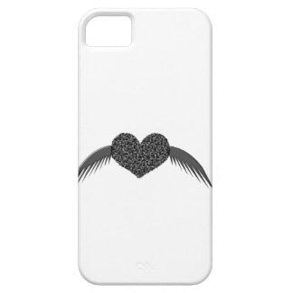 Caso con alas gótico del iPhone 5 del corazón del iPhone 5 Fundas