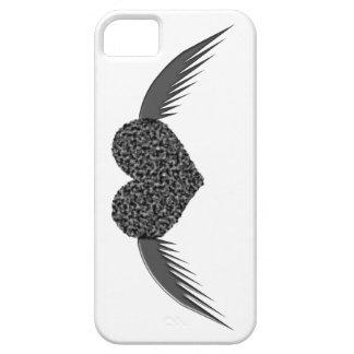 Caso con alas gótico del iPhone 5 del corazón del iPhone 5 Case-Mate Protectores