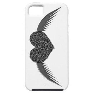 Caso con alas gótico del iPhone 5 del corazón del iPhone 5 Case-Mate Cárcasas