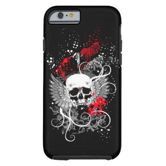 Caso con alas gótico del iPhone 6 del cráneo del Funda Resistente iPhone 6