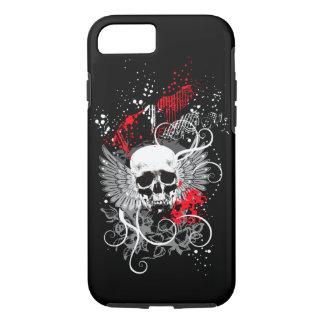 Caso con alas gótico del iPhone 7 del cráneo del Funda iPhone 7