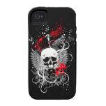 Caso con alas gótico del iPhone del cráneo del Vibe iPhone 4 Carcasa