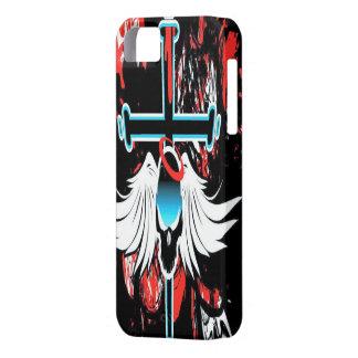 Caso con alas Grunge del iPhone 5 del cráneo iPhone 5 Carcasa