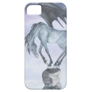 Caso con alas oscuridad del iPhone 5 del caballo Funda Para iPhone SE/5/5s