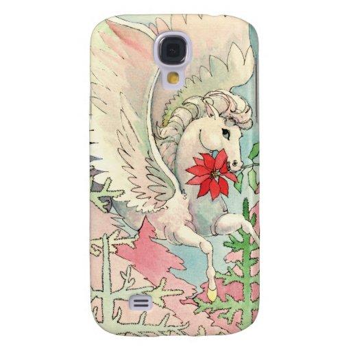 Caso con alas vintage del iPhone 3G/3GS del caball Funda Para Galaxy S4