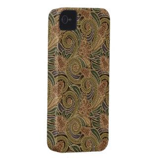 Caso con clase del iPhone 4 de Paisley del vintage Case-Mate iPhone 4 Funda