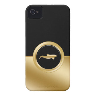 Caso con clase del iPhone 4 del delfín iPhone 4 Case-Mate Cárcasas