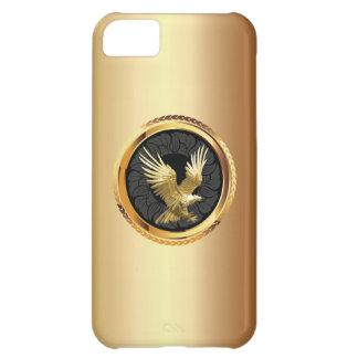 Caso con clase del iPhone 5 de la insignia de Eagl Funda Para iPhone 5C