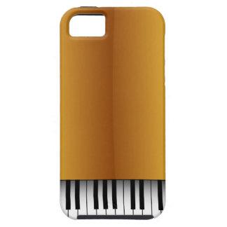 Caso con clase del iPhone 5 de la mirada del piano Funda Para iPhone SE/5/5s