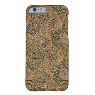 Caso con clase del iPhone 6 de Paisley del vintage Funda De iPhone 6 Barely There