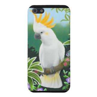 Caso con cresta cítrico del iPhone del Cockatoo iPhone 5 Carcasas