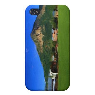 Caso con cresta del iPhone del parque de la mota iPhone 4 Fundas