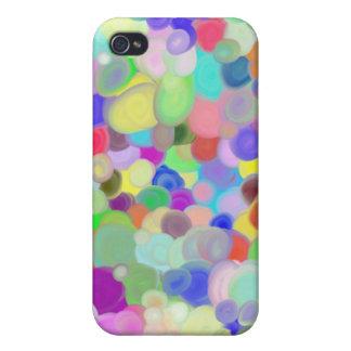 caso con las pinturas del tempera iPhone 4/4S carcasa