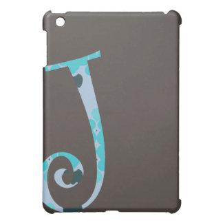 Caso con monograma del iPad - J