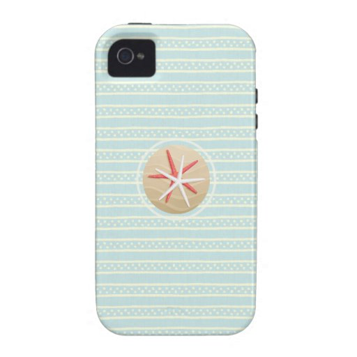 Caso con playas del iPhone de las estrellas de mar Case-Mate iPhone 4 Carcasas