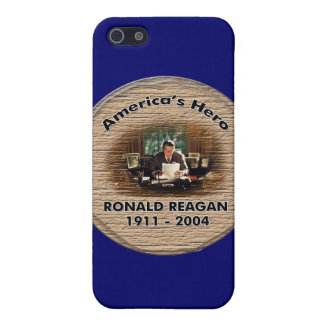 Caso conmemorativo del iphone 4 de REAGAN iPhone 5 Carcasa
