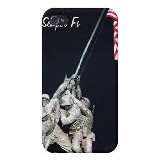 Caso conmemorativo del iPhone del Cuerpo del Marin iPhone 4/4S Carcasa