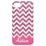 Caso conocido de Chevron BLING del brillo rosado iPhone 5 Cobertura