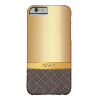 Caso conocido de encargo del iPhone 6 del oro Funda De iPhone 6 Barely There