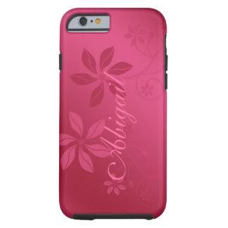 Caso conocido de encargo floral abstracto del funda de iPhone 6 tough