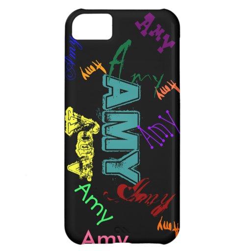Caso conocido del iPhone 5 del caso del Amy - negr