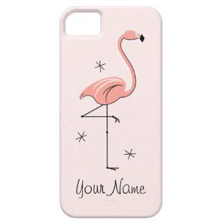 """Caso """"conocido"""" rosado del iPhone 5 del flamenco Funda Para iPhone 5 Barely There"""