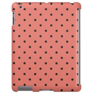 Caso coralino del iPad 2 3 4 del lunar del estilo