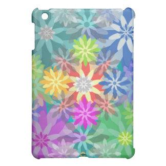 Caso coralino del iPad del color de las flores