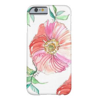 Caso coralino del iPhone 6 de la acuarela de la Funda De iPhone 6 Barely There