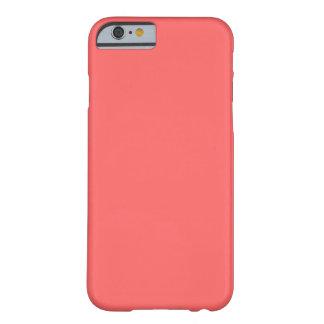 Caso coralino del iPhone 6 Funda De iPhone 6 Barely There