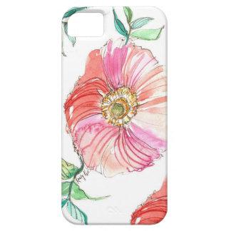 Caso coralino del iPhone de la acuarela de la amap iPhone 5 Case-Mate Funda
