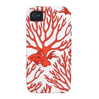 Caso coralino del iphone del modelo iPhone 4/4S carcasa