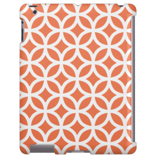Caso coralino geométrico del iPad 2/3/4