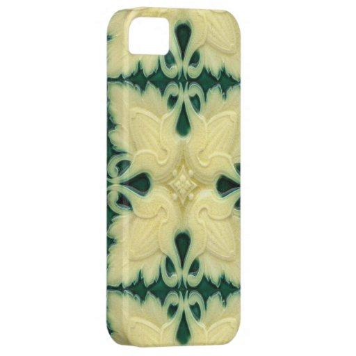 Caso Crackled de Iphone del diseño de la baldosa c iPhone 5 Case-Mate Protector