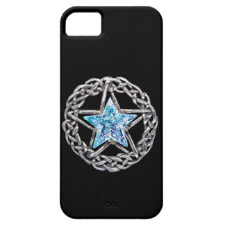 Caso cristalino del iPhone 5 de la estrella del Pe iPhone 5 Case-Mate Fundas