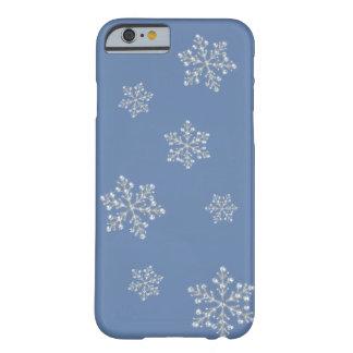 Caso cristalino del iPhone 6 del copo de nieve Funda Para iPhone 6 Barely There