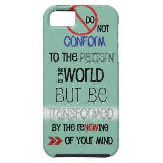 Caso cristiano del iPhone 5: No se conforme Funda Para iPhone 5 Tough