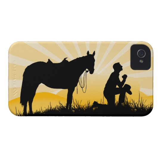 Caso cristiano del iPhone del vaquero Carcasa Para iPhone 4 De Case-Mate