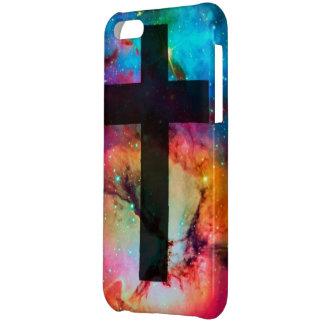 Caso cruzado de Cristo Iphone 5C de la galaxia