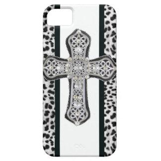 Caso cruzado formado una costra diamante funda para iPhone SE/5/5s