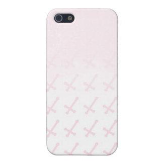 Caso cruzado rosado descolorado iPhone 5 funda