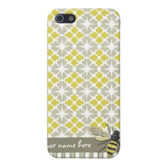 Caso cubierta del iPhone 4 de la abeja de Haute iPhone 5 Cárcasa